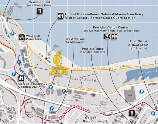 Presidio Parking Map